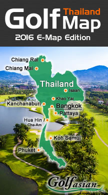 Thailand Golf Map 2016
