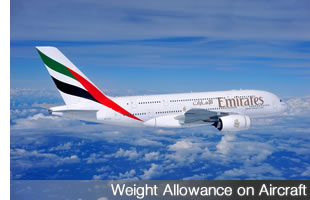 Weight Allowance on Aircraft
