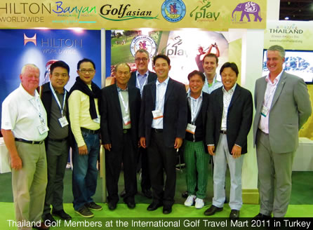 Thailand Golf Members at the International Golf Travel Mart IGTM 2011 in turkey