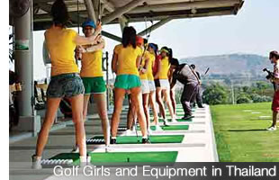 Golf Girls and Equipment in Thailand