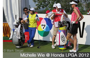 Michelle Wie at the Honda LPGA 20120 at Siam Country Club Pattaya