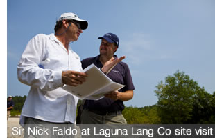 Sir Nick Faldo at Laguna Lang Co Site Visit