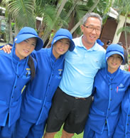 Steve Hahn and Thai Country Club Caddies